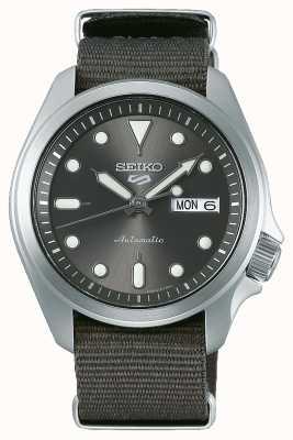 Seiko Men's 5 Sports Automatic Watch | Grey NATO SRPE61K1