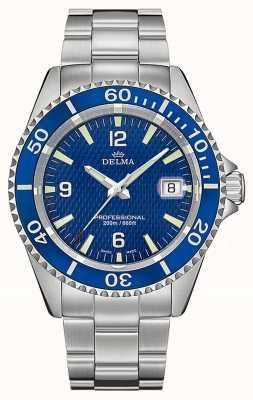 Delma Santiago Quartz | Stainless Steel Bracelet | Blue Dial 41701.562.6.044