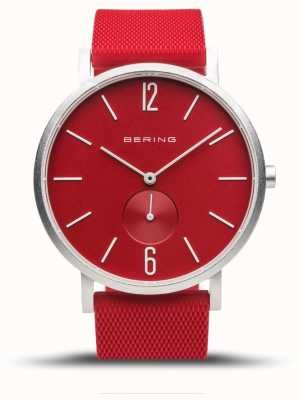 Bering True Aurora | Red Rubber Strap | Red Dial 16940-509