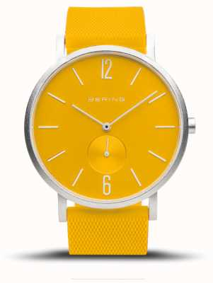 Bering True Aurora | Yellow Rubber Strap | Yellow Dial 16940-609