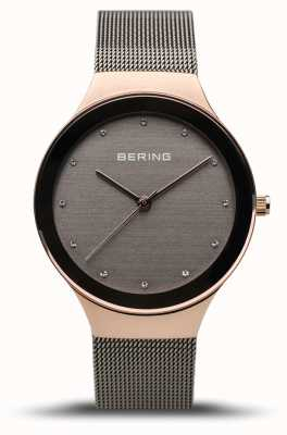 Bering Women's Classic | Polished Rose Gold | Grey Mesh Strap 12934-369
