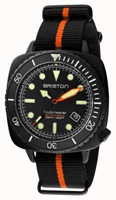 Briston Clubmaster Diver Pro | Black/Orange NATO Strap | Black Dial 20644.PBAM.B.35.NBO
