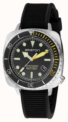 Briston Clubmaster Diver Pro Steel | Black Rubber Strap | Black Dial 20644.S.DP.34.RB