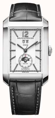 Baume & Mercier Hampton Rectangle | Automatic | Black Leather | Silver Dial M0A10523