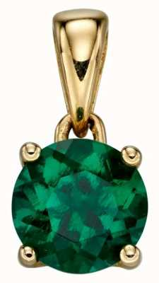 Elements Gold 9ct Y/g Emerald Cz May Birthstone Pendant Only GP2192