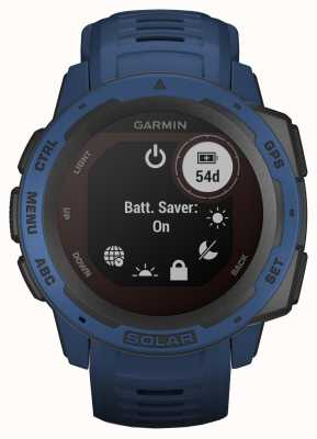 Garmin Instinct Solar GPS Tidal Blue Rubber Strap 010-02293-01