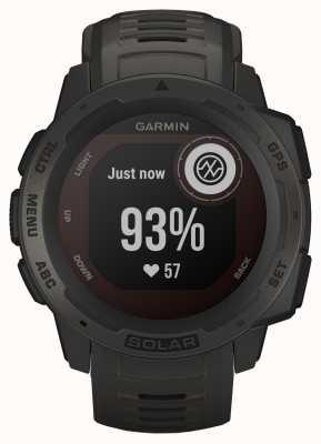 Garmin Instinct Solar GPS Graphite Rubber Strap 010-02293-00