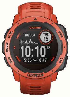 Garmin Instinct Solar GPS Flame Red Rubber Strap 010-02293-20