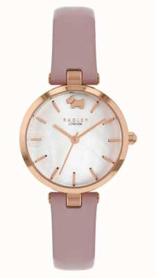 Radley West View | Pink Leather Strap | Silver Dial RY2970