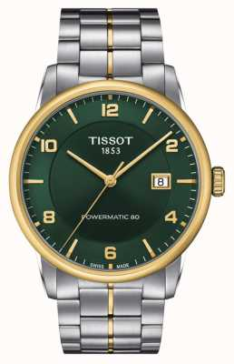 Tissot Luxury Powermatic 80 | Green Dial | Stainless Steel Bracelet T0864072209700