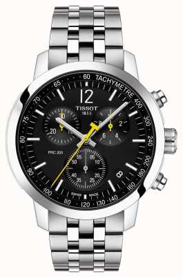 Tissot PRC 200   Chronograph   Black Dial   Stainless Steel T1144171105700