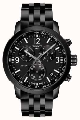 Tissot PRC 200 | Chronograph | Black Dial | Black PVD Steel T1144173305700