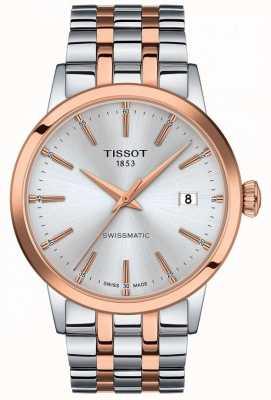 Tissot Swissmatic   Silver Dial   Two Tone Stainless Steel Bracelet T1294072203100