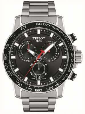 Tissot Supersport Chrono   Black Dial   Stainless Steel Bracelet T1256171105100
