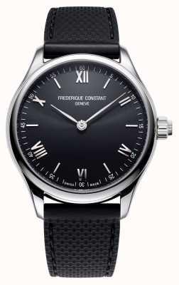 Frederique Constant Mens | Vitality | Smartwatch | Black Dial | Black Rubber FC-287B5B6