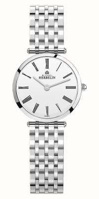Michel Herbelin | Womens | Epsilon | Stainless Steel Bracelet | White Dial | 17116/B01N