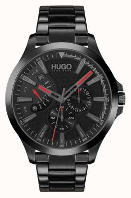 HUGO #LEAP Casual | Black Dial | Black IP Bracelet 1530175