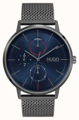 HUGO #EXIST Business | Blue Dial | Grey IP Mesh Strap 1530171
