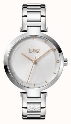 HUGO Ladies #HOPE Casual   Silver Dial   Stainless Steel Bracelet 1540076