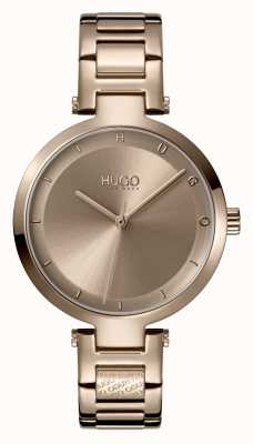 HUGO Ladies #HOPE Casual | Beige Dial | Beige IP Steel Bracelet 1540077