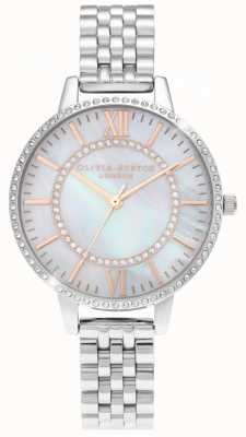 Olivia Burton Wonderland Mother Of Pearl Demi Dial Silver Watch OB16WD91