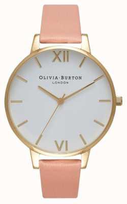 Olivia Burton White Dial Dusty Pink & Gold Watch OB16BDW13