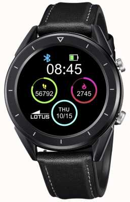 Lotus Men's | Smartime | Black Leather Strap + Free Strap 50009/1