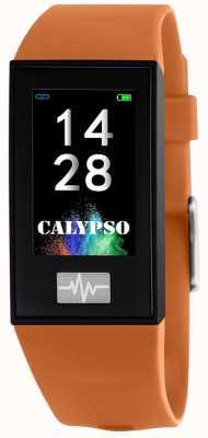 Calypso Unisex | Smartime | Orange Silicone Strap + Free Strap K8500/3