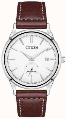 Citizen Eco-Drive Brown Leather Strap | White Dial BV1119-14A