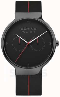 Bering Men's Max Rene | Black Silicone Strap | Black Dial 15542-423