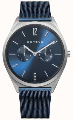 Bering Ultra Slim | Blue Steel Mesh Strap | Blue Dial 17140-307