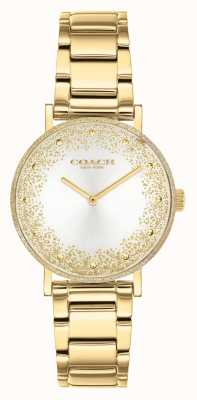Coach Women's Perry | Gold Plated Steel Bracelet | Silver Dial 14503638