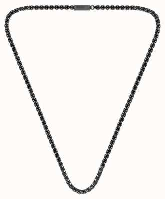 BOSS Jewellery Turf Grey IP Plated Box Chain Necklace 610mm 1580094