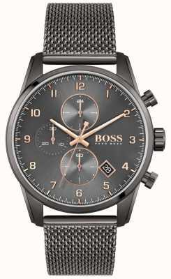 BOSS Skymaster Sport Lux | Black IP Mesh Bracelet | Black Dial 1513837