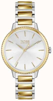 BOSS Women's Signature   Two-Tone Steel Bracelet   Silver Dial 1502568