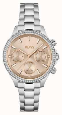 BOSS Women's Hera   Stainless Steel Bracelet   Rose Dial 1502565