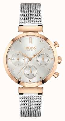BOSS Women's Flawless   Steel Mesh Bracelet   Silver Dial 1502551