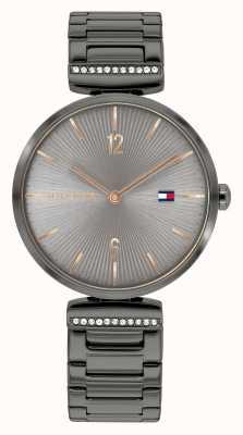 Tommy Hilfiger Women's Aria | Gunmetal Grey Steel Bracelet | Grey Dial 1782276