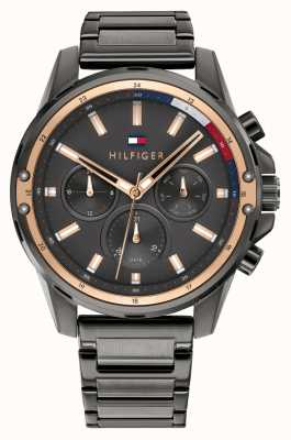Tommy Hilfiger | Men's | Mason | Gunmetal Grey Steel Bracelet | Grey Dial | 1791790