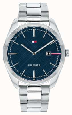 Tommy Hilfiger Men's Theo | Stainless Steel Silver Bracelet | Blue Dial 1710426