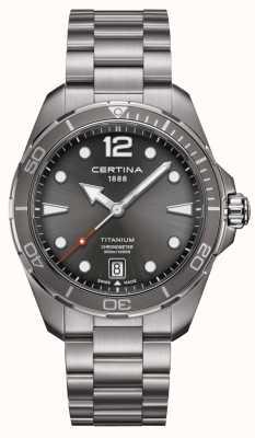 Certina DS Action | Titanium Bracelet | Grey Dial | COSC C0324514408700