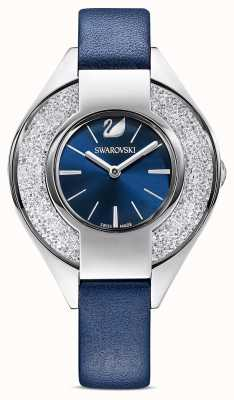 Swarovski Crystalline Sporty | Blue Leather Strap | Blue Dial 5547629