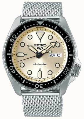 Seiko Automatic | Mens | Sports | Mesh bracelet | Cream SRPE75K1