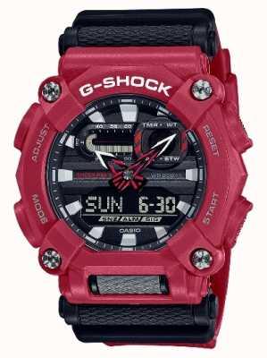 Casio G-SHOCK | Heavy Duty | World Time | Red Resin GA-900-4AER
