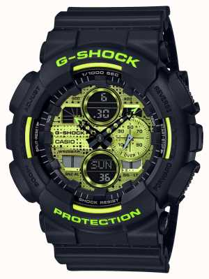 Casio G-SHOCK | Digital Camo | Black Resin GA-140DC-1AER