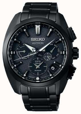 Seiko Astron   Black dial   Black Titanium   GPS   Chronograph SSH069J1