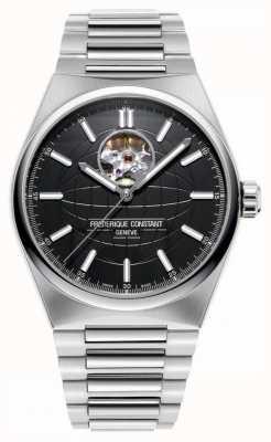 Frederique Constant Highlife Heartbeat Auto | Steel Bracelet | Black Dial FC-310B4NH6B