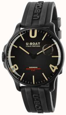 U-Boat Darkmoon 44mm Black IPB   Rubber Strap 8464-BLACK