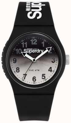 Superdry Urban Lazer | Black Silicone Strap | Black&Grey Dial SYG198EB