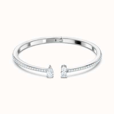 Swarovski Attract Cuff | Rhodium Plated | Bangle | White 5556912